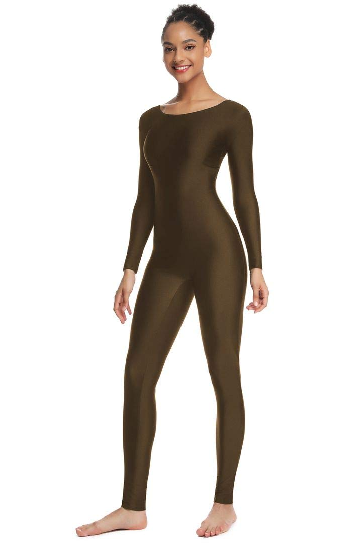 OVIGILY Women's Long Sleeve Unitard Dance Costume Spandex Full Body Suits by OVIGILY