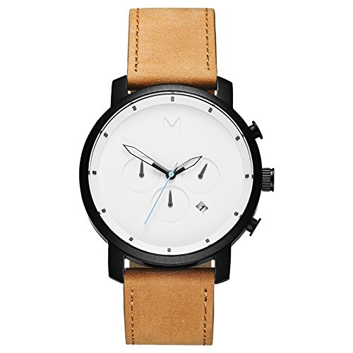 (MVMT Chrono Watches | 45 MM Men's Analog Watch Chronograph | Black Tan)