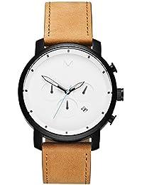 Chrono Watches | 45 MM Mens Analog Watch Chronograph | Black Tan