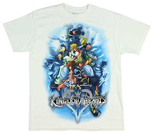 Disney Kingdom Hearts Shirt Mickey Mouse Sora Riku Boys Keyblade Pop T-Shirt XL