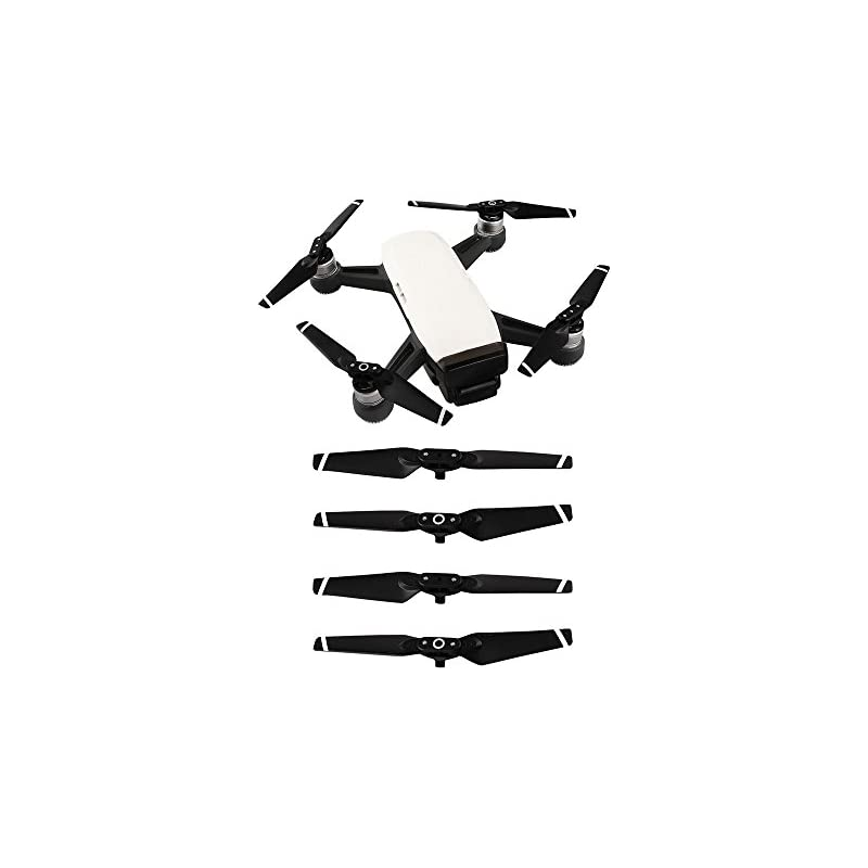 DJI Spark Propellers, DZT1968 2 Pairs Quick Release Foldable Low Noise Propellers DJI Spark Accessories Clockwise Counterclockwise Propeller DJI Spark …