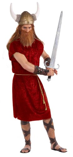 Male Goddess Costume (Forum Novelties Men's Gods and Goddesses Tunic, Red, One Size)