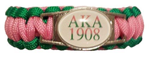 AKA Sorority gifts - AKA Sorority Paraphernalia - AKA Alpha Kappa Alpha 550 Paracord Survival Bracelet for Women - AKA Jewelry