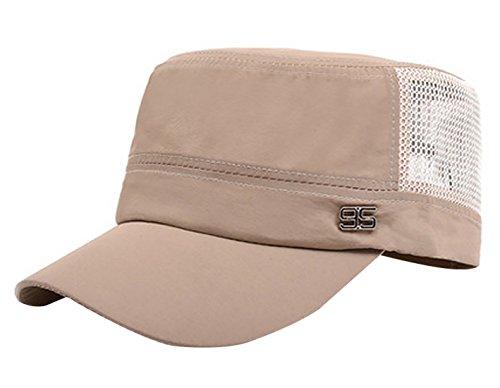 Flat Top Hat Mens Outdoor Hats Hat Military Cap Spring Summer Men 304987cbfe08