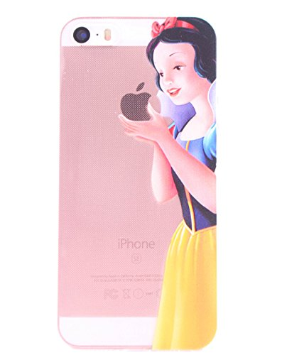 (iPhone SE/5S/5C-Snow White) ROXX iPhone SE / 5S / 5C iPhone Clear Silicone Case Snow White Holding Apple