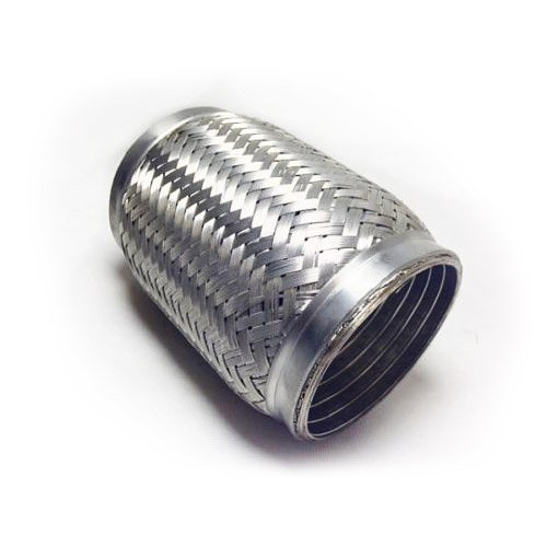 63mm x 100mm [2.5' x 4'] Stainless Steel Universal Exhaust Flexi Weld On Joint Replacement and Repair Exhaust Parts UK