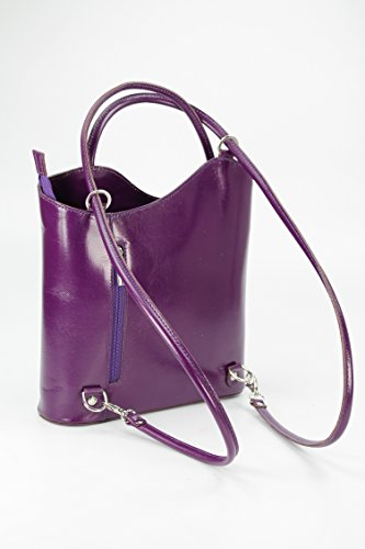 """Belli® Italiana. Piel Bolso """"Belli Backpack Selección de Colores de piel, también en la espalda portátil–28x 28x 8cm (B X H X T) morado"""