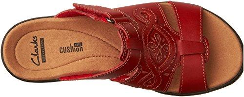 Clarks Vrouwen Leisa Higley Dia Sandaal Rode Lederen