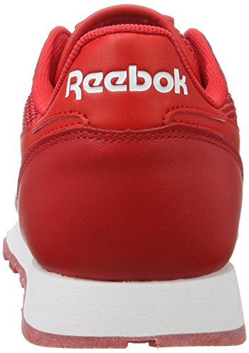 Reebok Classic Leather Nm - Tobillo bajo Hombre Rojo (Primal Red/white/poppy Red/triathalon Red)