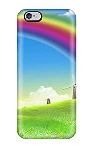 Anti-scratch Case Cover LastMemory Protective Rainbow Free Case For Iphone 6 4.7