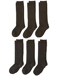 Jefferies Socks girls Big Seamless Cotton Knee High (Pack of 6)