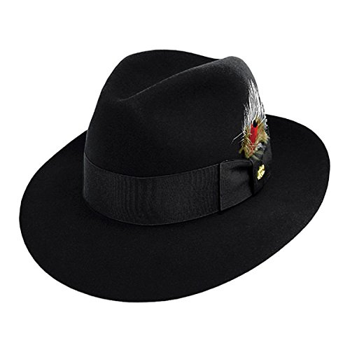 Stetson Pinnacle Beaver Fur Felt Fedora-Black-7_38