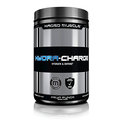 KAGED MUSCLE – Hydra Charge Premium Electrolyte – 60 Servings – Hydrate Faster – Fruit Punch Flavor – Mixes Perfectly with Pre-Intra and Post -Workout Stacks – Tastes Great