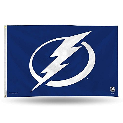 Lightning Banner - Rico Industries NHL Tampa Bay Lightning 3-Foot by 5-Foot Single Sided Banner Flag with Grommets