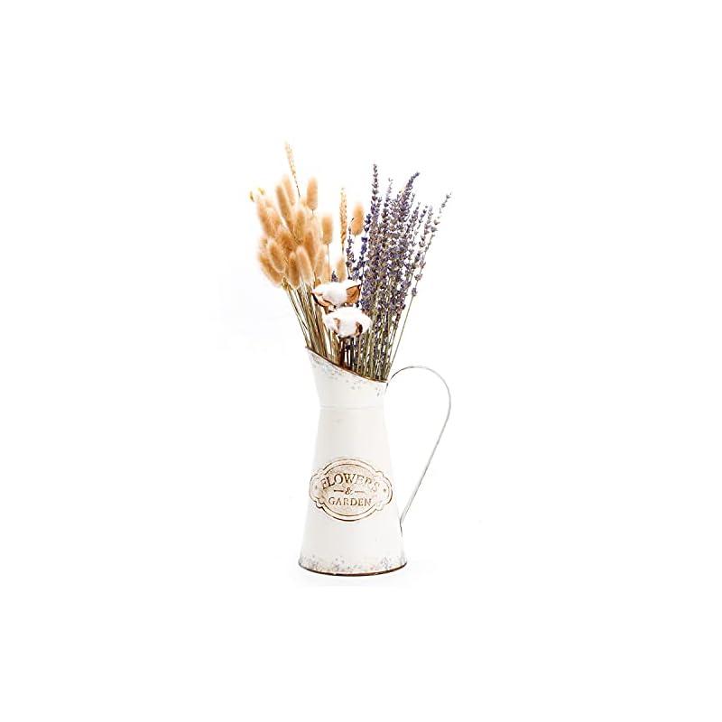 YoleShy Farmhouse Decorative Pitcher, Metal Rustic Pitcher Vase Flower Jug for Home Decoration, Wedding Decor, Photo…