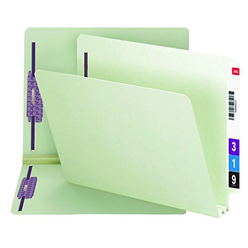 Smead End Tab Pressboard Fastener File Folder with SafeSHIELD Fastener, 2 Fasteners, 2