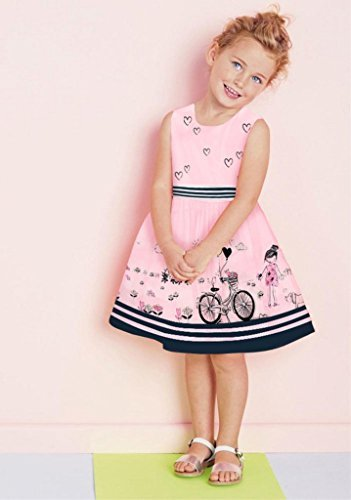 Little Girls Floral Print Butterfly Sleeveless Skirt Dresses 1-7 Years by LUCKFACE (Image #2)