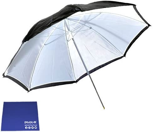 Chamois Cloth Phot-R Professional 2x 109cm//43 2-in-1 Translucent White Reflective Studio Flash Photography Diffusing Collapsible Umbrella