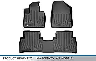 All Models SMARTLINER Custom Fit Floor Mats 1st Row Liner Set Black for 2016-2019 Kia Sorento