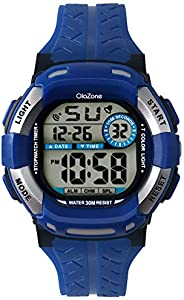 Kids Watch Digital Girls Boys 7-Color Flashing Light Water Resistant 100FT Alarm Watch for Age 4-10