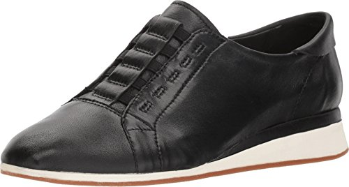 Hush Puppies Women's Evaro Slipon Oxford Loafer, Black Leaher, 07.5 W (Hush Puppies Oxford Heels)