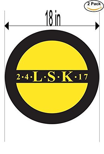 fan products of Lillestrom Norway Soccer Football Club FC 2 Stickers Car Bumper Window Sticker Decal Huge 18 inches
