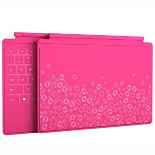 Microsoft Touch Cover Limited Edition Flowers - Pink - Touch Cover For Microsoft Surface