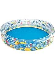 Bestway 51004 Sea Creatures-Printed Inflatable 3 Rings Kiddie Pool