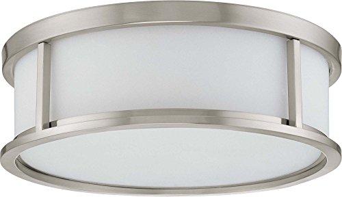 Nuvo Odeon ES - 3 Light 15 inch Flush Dome w/ White Glass - (3) 13w GU24 Lamps