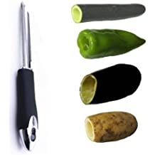 Jalapeno Chili Pepper Corer Stainless Steel Zucchini Cucumber Corers Special Kitchen Gadgets With Serrated Edge Easy Remove The Seeds Of Your Veggies & Fruits