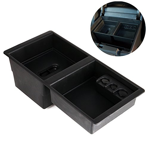 Chevrolet Center Console (GM Center Console Insert Organizer Tray for Chevrolet Silverado 1500 2500 3500 Tahoe Suburban GMC Yukon Sierra (2014-2018) - GM Vehicles Console Armrest Glove Box - Replaces 22817343)