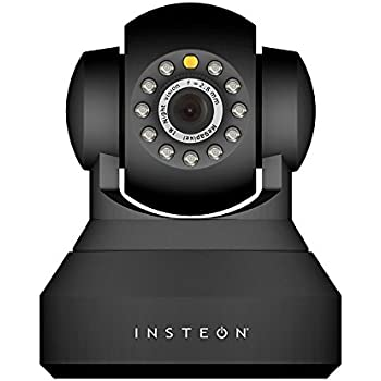 Insteon 75790 Wireless IP Security Camera with Night Vision, Black ...