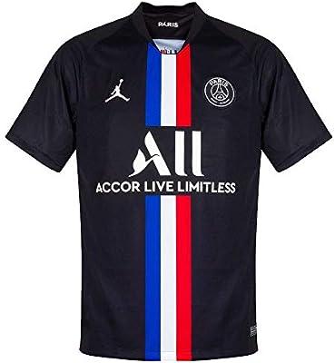 NIKE PSG M Nk BRT Stad JSY SS 4r Camiseta de Manga Corta, Hombre, Black/(White) (Full Sponsor), XL: Amazon.es: Deportes y aire libre
