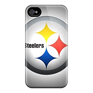 GAwilliam Perfect Tpu Case For Iphone 4/4s/ Anti-scratch Protector Case (pittsburgh Steelers)