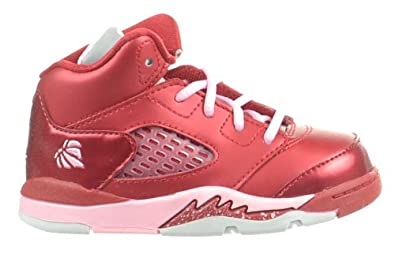 Amazon.com | Jordan 5 Retro (TD) Valentineu0027s Toddler Baby Shoes Gym Red/Ion  Pink Gym Red/Ion Pink 440890 605 6.5 | Basketball