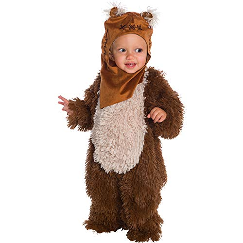 Rubie's Baby Star Wars Classic Ewok Deluxe Plush Costume Romper, Color As Shown, Infant]()