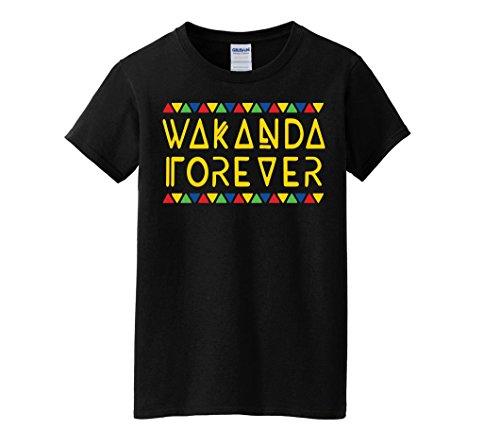 AA Apparel Wakanda Forever T-Shirt Black Women's Short Sleeve (Medium, Black) - Forever T-shirt Dark Womens