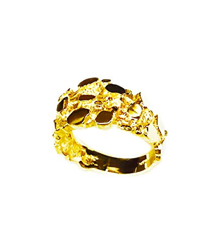 - TEX 14Kt Yellow Gold Nugget Design Fashion Ring 5 Grams
