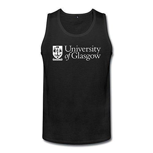 TIANYI Custom Men University Of Glasgow Logo Tank Tops T Shirt