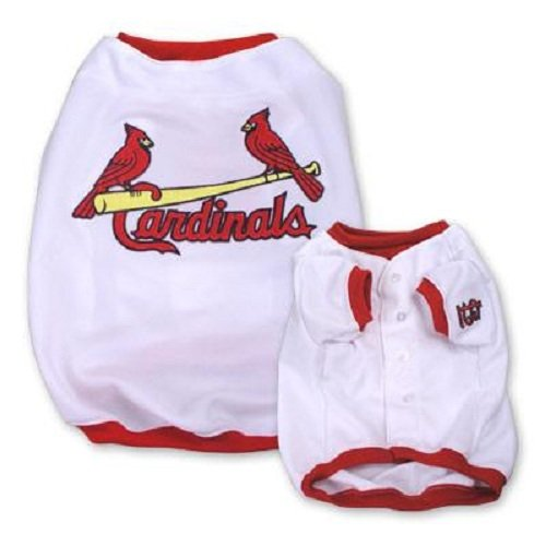 MLB Saint Louis Cardinals Baseball Dog Jersey, Small