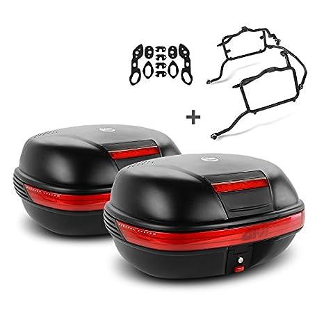 Juego de maletas laterales Set Kawasaki Versys 650 06-09 Givi Monokey E460N negro, kit adaptador incluida: Amazon.es: Coche y moto