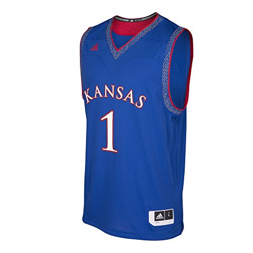 adidas NCAA Kansas Jayhawks Mens Iced Out Replica Basketball Jerseyiced Out Replica Basketball Jersey, Collegiate Royal, XX-Large