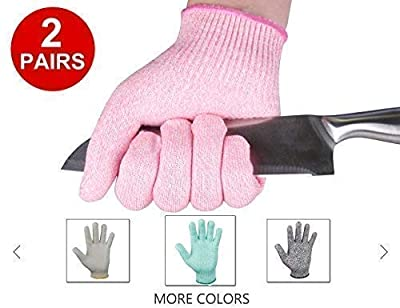 EvridWear 2-Color Combo Cut Resistant Gloves with Cut Level 5 Protection, EN388 Certified Food Grade, Strong Silicone Grip Dots, 2 Pairs Combo Deal, Lifetime Replacement