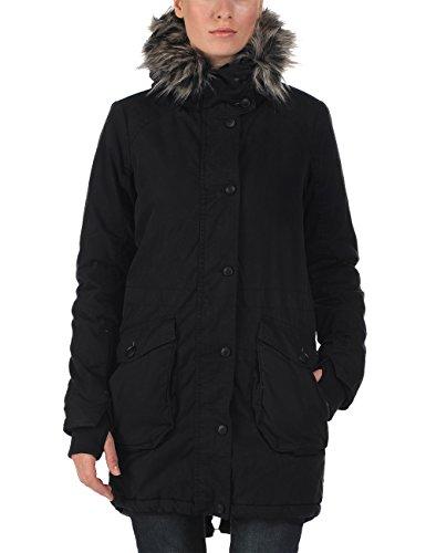 Bench Wolfish Ii - Abrigo de manga larga para mujer, color black, talla Size 8 (Manufacturer Size: X-Small) Negro