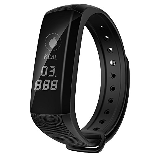 WFDRD Fitness Tracker,Smart Band Calorie Counter Sports Bracelet Health Monitor Wristband W/ 24h Continuous Heart Rate Sleep Monitor Waterproof Smart Watch for Android & IOS Phones (black) (Prevention Monitor Pressure Blood Wrist)