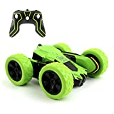 Rodzon Remote RC Car,Control Tracks 2.4GHZ Controlled Toy Car Kids Adults,Double Sided 360 Degree Flips. (Green)(Batteries not Included)