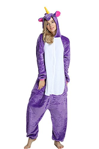 Anime Cosplay di Unicorn Purple Halloween Costume Costume Missley Adult Pajama qZCOxPa