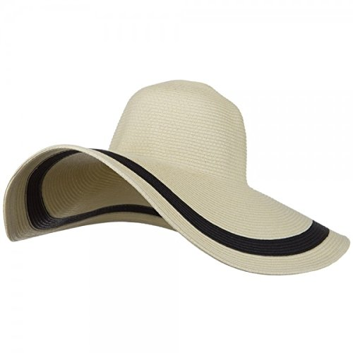 MG Solid Peak Ladies Wide Brim Toyo Sun Hat (Natural)