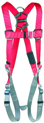 3M Protecta PRO 1191200 Vest Style Harness with Back D-Ring, Pass Thru Legs, 420  lb. Capacity, Small, Red/Gray from 3M Fall Protection Business