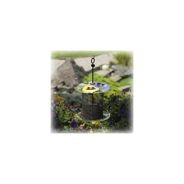 Bird Brain NinArt Glass & Mesh Bird Feeder Geranium (Discontinued by Manufacturer) Patio, Lawn & Garden